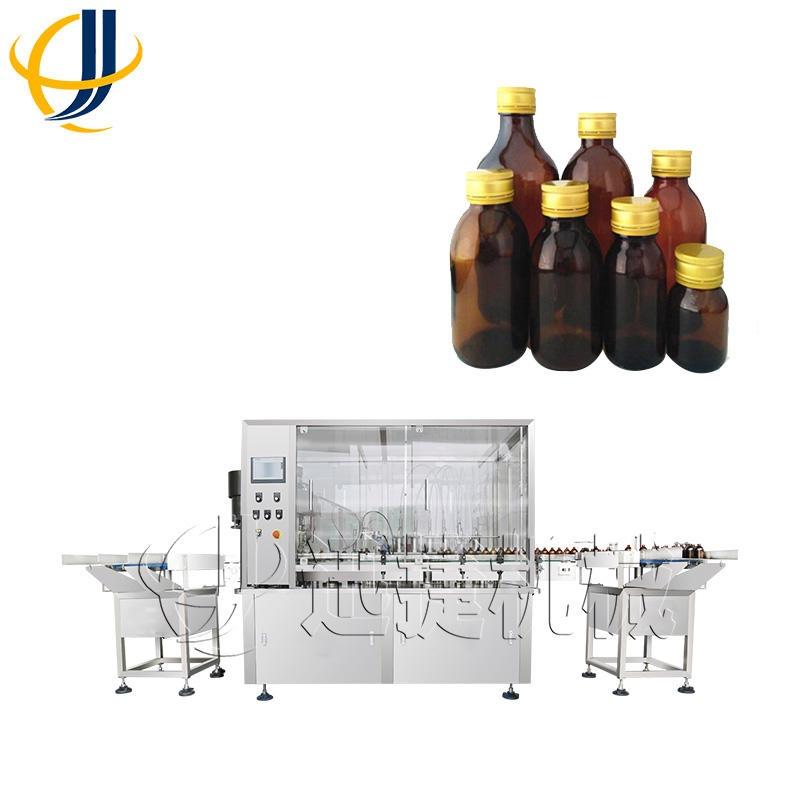 迅捷生产 10-500ml液体灌装机 山东西林瓶灌装旋盖机一体机 操作方便 迅捷机械003