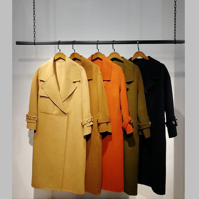 批发供应N28双面尼大衣1803017226女装折扣店直 播货源厂家直供