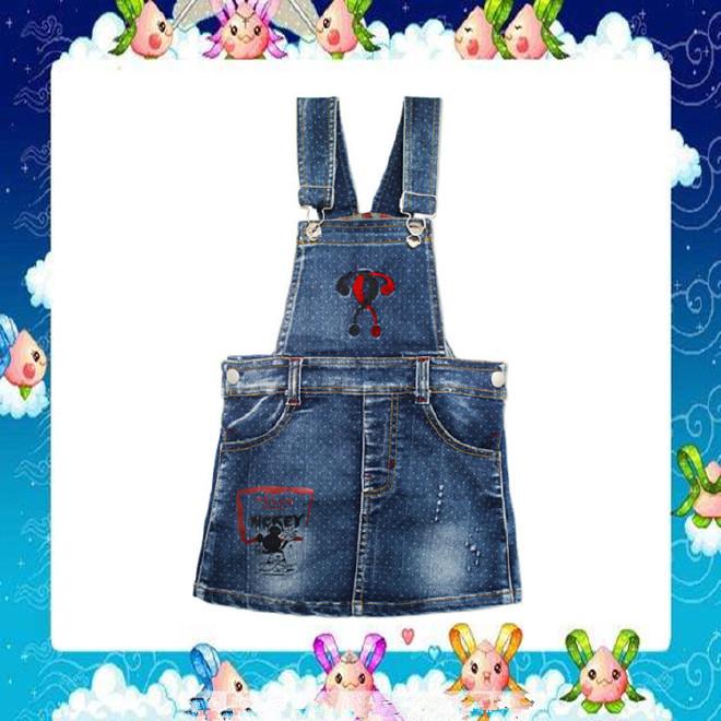 2017夏季韩版精品外贸厂家背带牛仔短裙 时尚潮流厂家直批1191