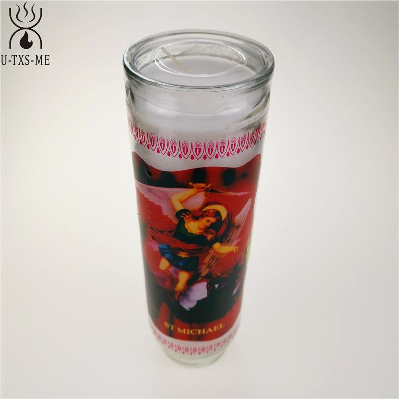 厂家直销无烟环保清香宗教玻璃瓶蜡烛 9天玻璃瓶教堂蜡烛烛台示例图7