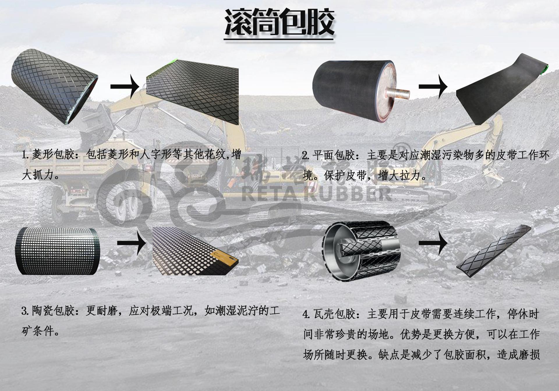 cn层滚筒包胶胶板 耐磨冷硫化cn层滚筒包胶胶板厂家示例图3