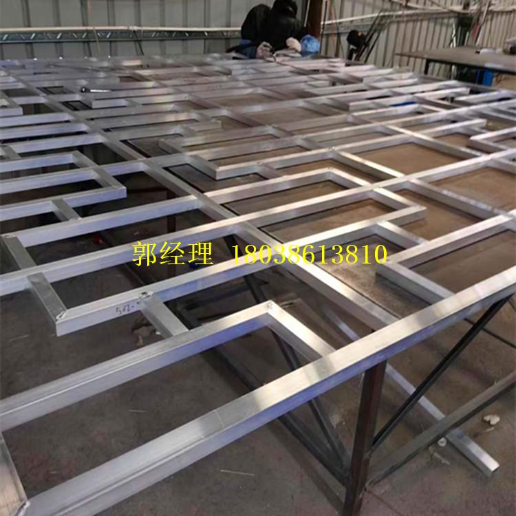 苏州仿古镂空花窗定制厂家 铝合金四方管直销 匠铝中式铝窗花商家示例图12