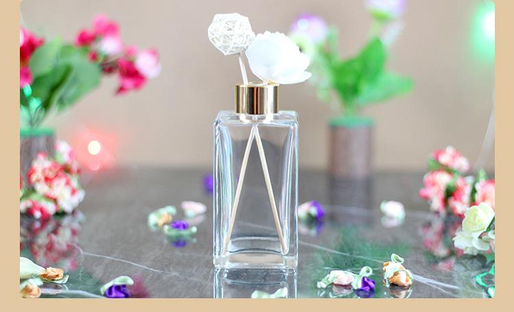 無火香薰家用瓶室內廁所散香器從小號到大號香薰玻璃長四方瓶示例圖20