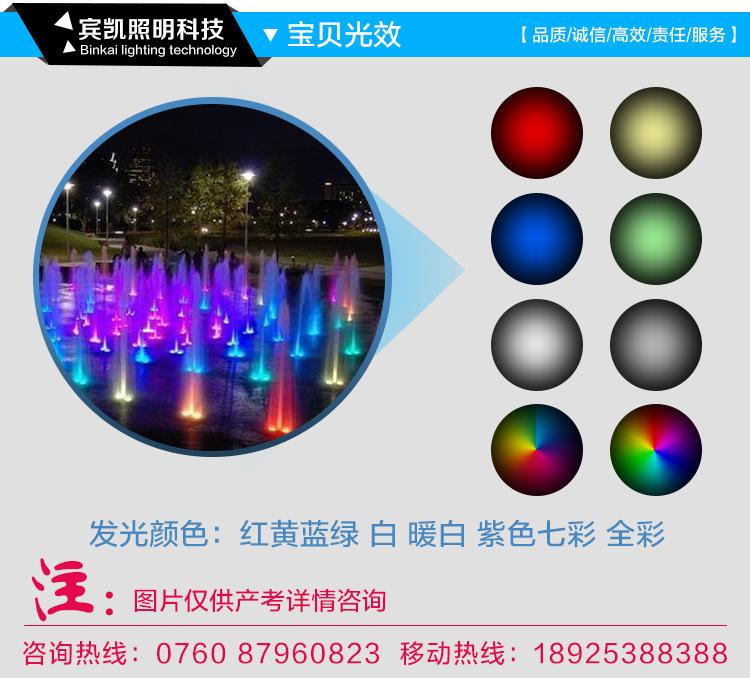 LED不锈钢水底灯户外景观LED水底灯公园广场水池水底灯示例图11