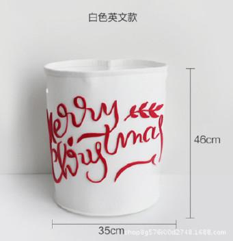 创意卡通不织布收纳桶毛毡玩具杂物收纳筐圣诞节礼物桶 可定制示例图3