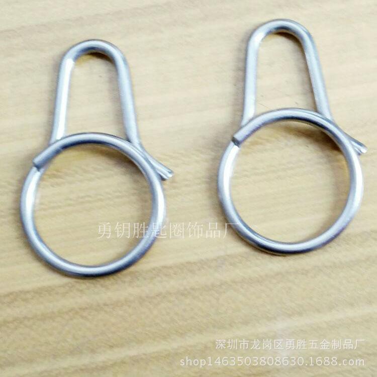 一體快拆式鑰匙扣 創意鈦合金匙圈掛件 原創設計男女鑰匙環示例圖5