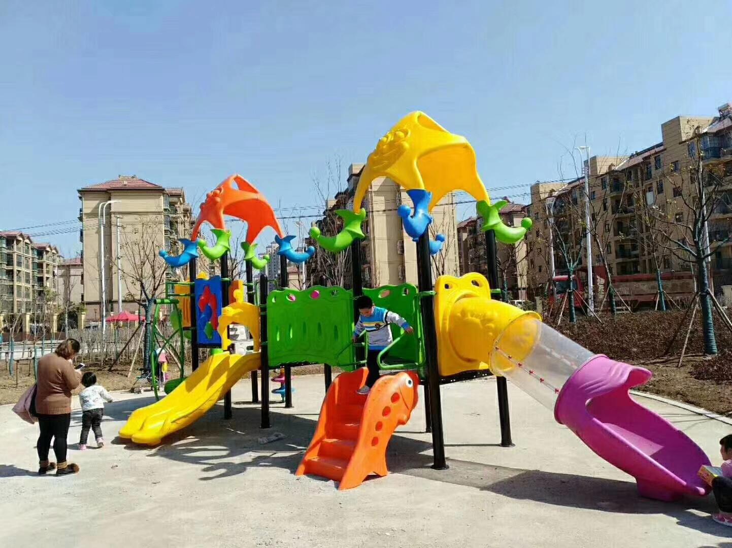 专业生产定制室外小区广场幼儿园滑梯 户外儿童乐园滑梯 物美价廉示例图12