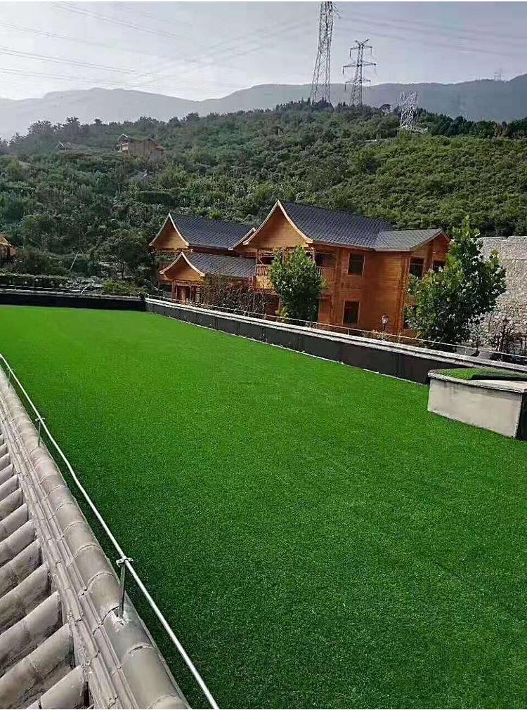 仿真草坪人造草 假草坪地毯 幼兒園彩色草皮人工塑料假草綠色戶外示例圖7