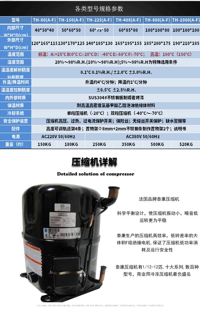 80L恒温恒湿试验机,平价销!示例图4