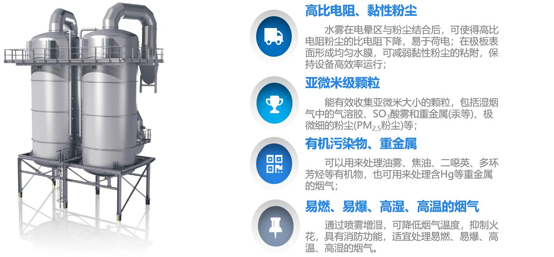 濕式除塵器 水淋工業粉塵除塵設備 熱鍛造濕式靜電除塵設備 高溫高濃度濕式靜電除塵器示例圖5
