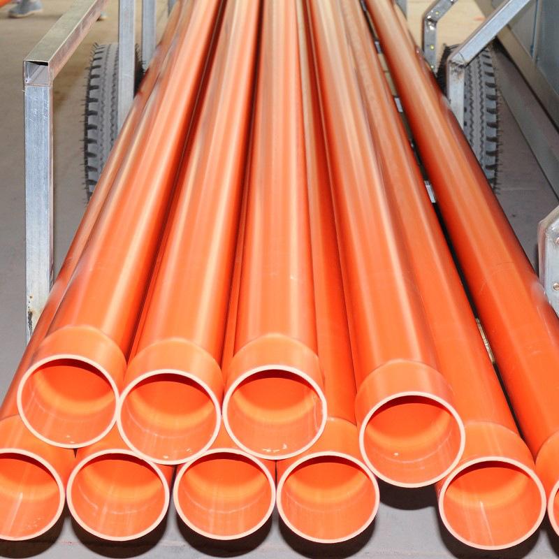厂家直销pvc电力管 cpvc穿线管 mpp拖拉过道管各种电力管道示例图2
