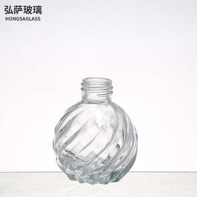 創意香薰瓶空瓶玻璃香氛瓶配件家用藤條干花揮發香薰瓶擺件