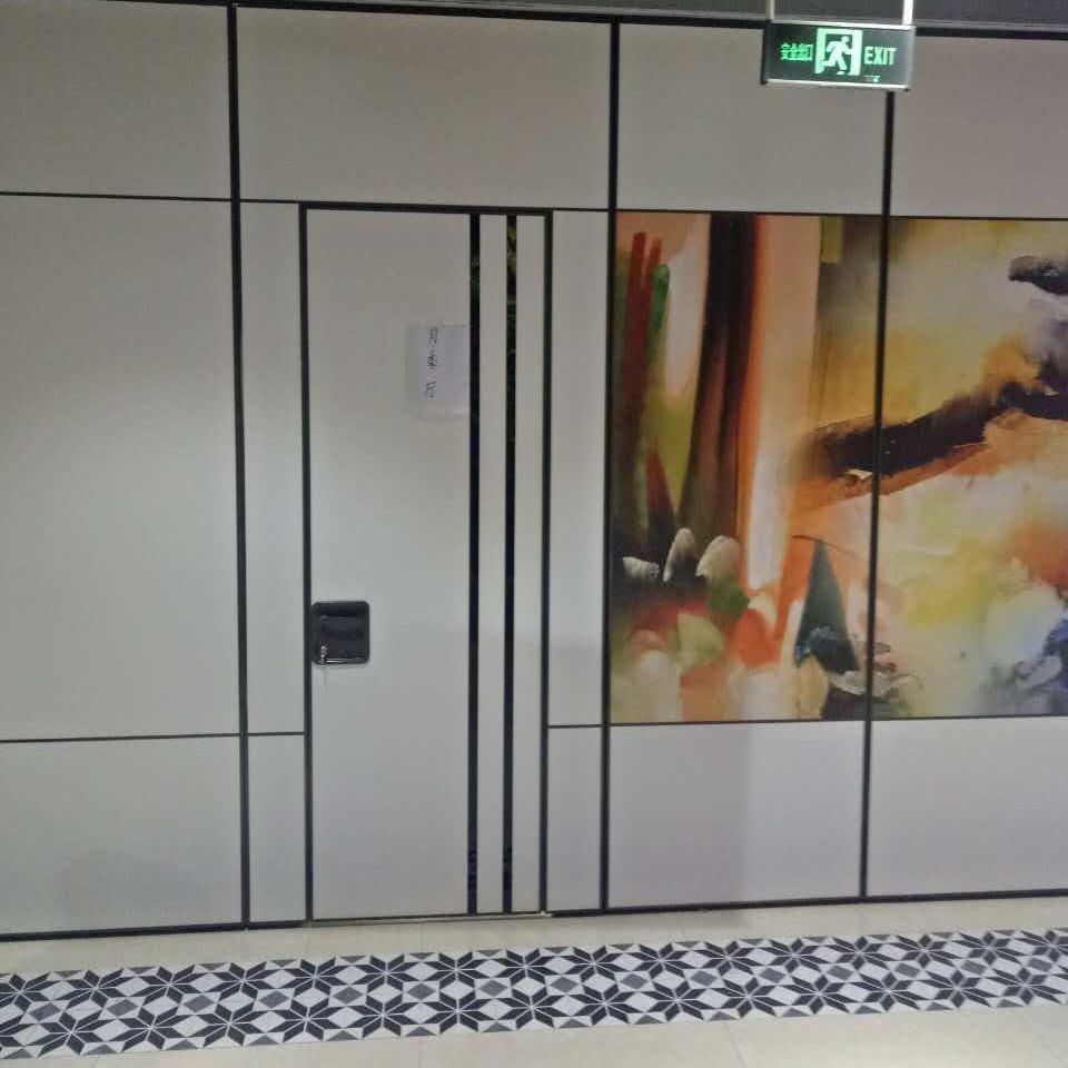 河南壁畫隔斷 壁畫活動隔斷 壁畫移動隔斷 65型活動隔斷