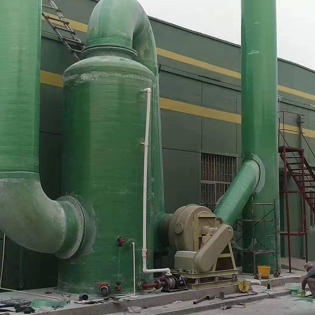 山东万聚环境工程咨询  玻璃钢罐  污水池加盖  生物除臭废气处理