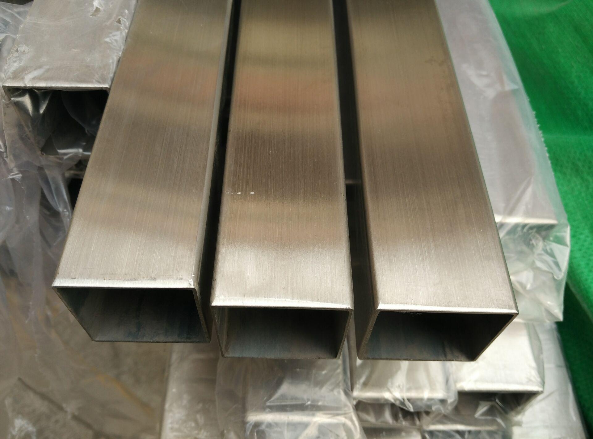 机械设备用  304不锈钢方管40*60*3.0厚壁拉丝 耐腐蚀矩形管示例图3
