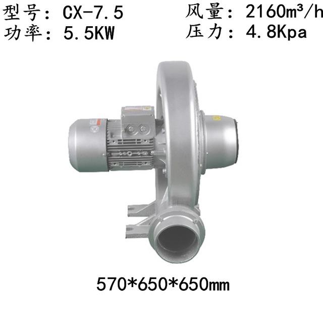 透浦式中壓鼓風機 CX-7.5中壓透浦式鼓風機5.5KW中壓風機