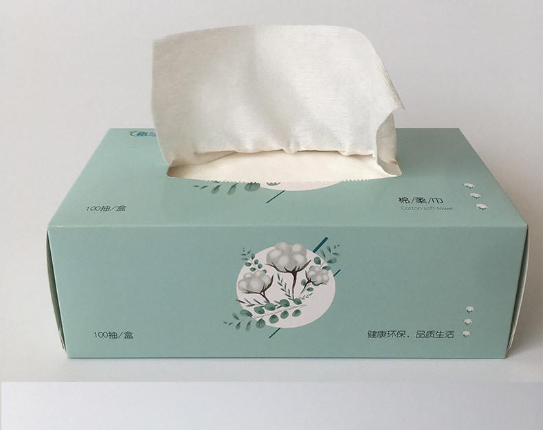 一次性洗臉巾面巾紙 干濕兩用棉柔巾 化妝棉100抽示例圖9