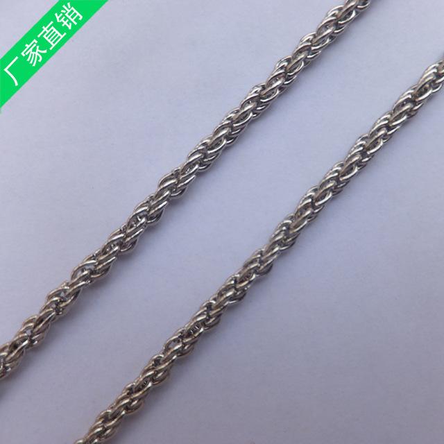 东莞厂家生产供应不锈钢麻花链 批发定做白色麻花链条 吊灯链条