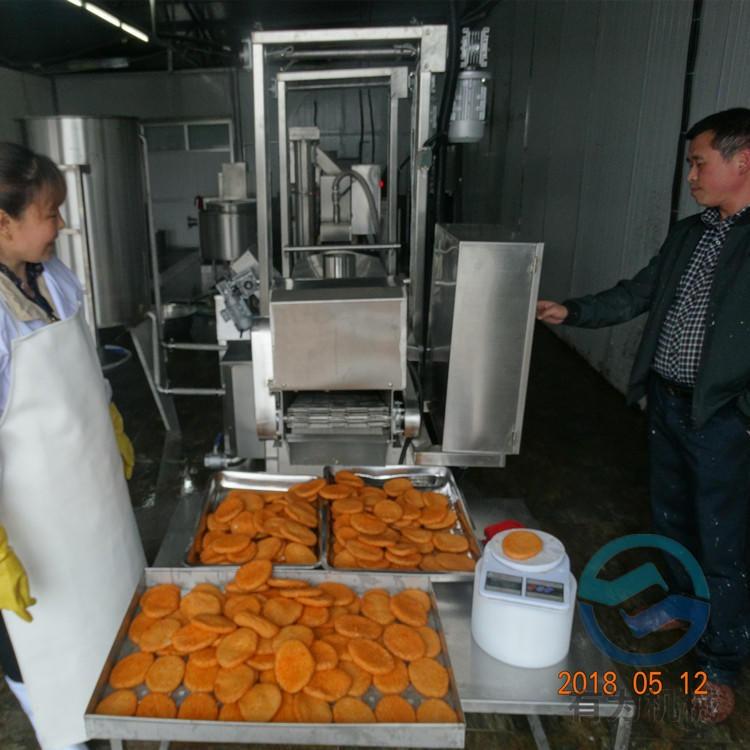 有為科技YWDZ3000肉餅加工設備 全自動肉餅成型機 全自動漢堡肉餅油炸機生產線