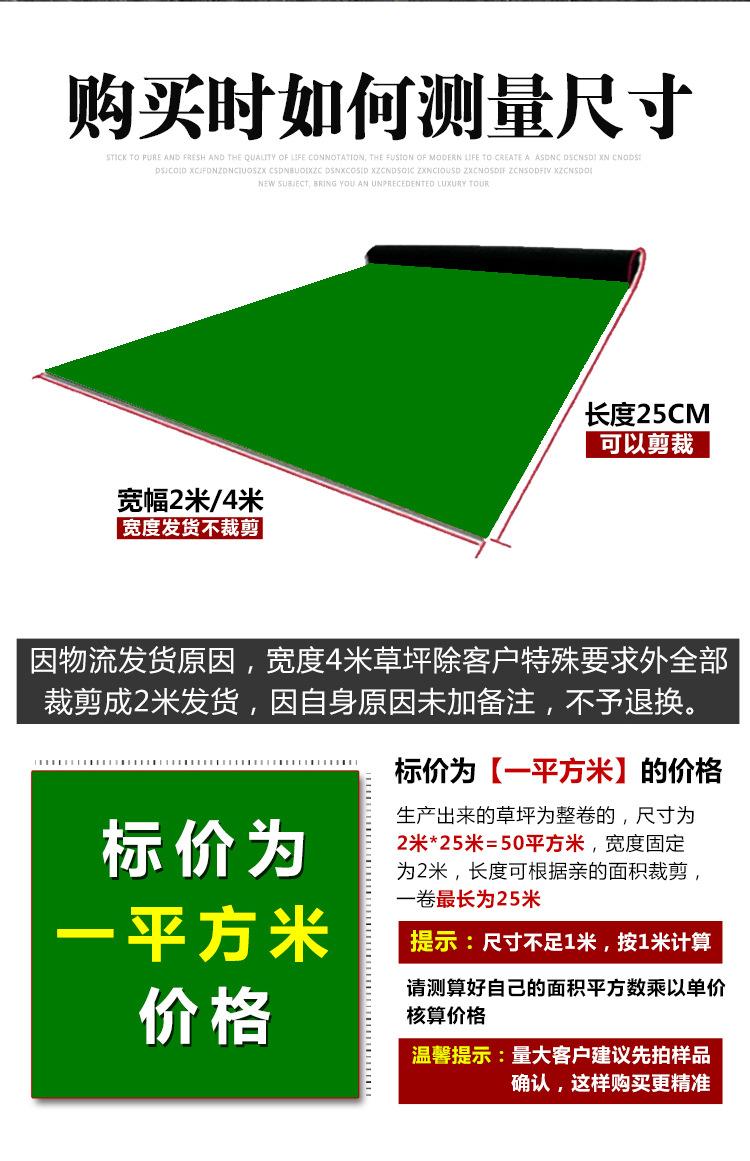 仿真草坪人造草 假草坪地毯 幼儿园彩色草皮人工塑料假草绿色户外示例图4