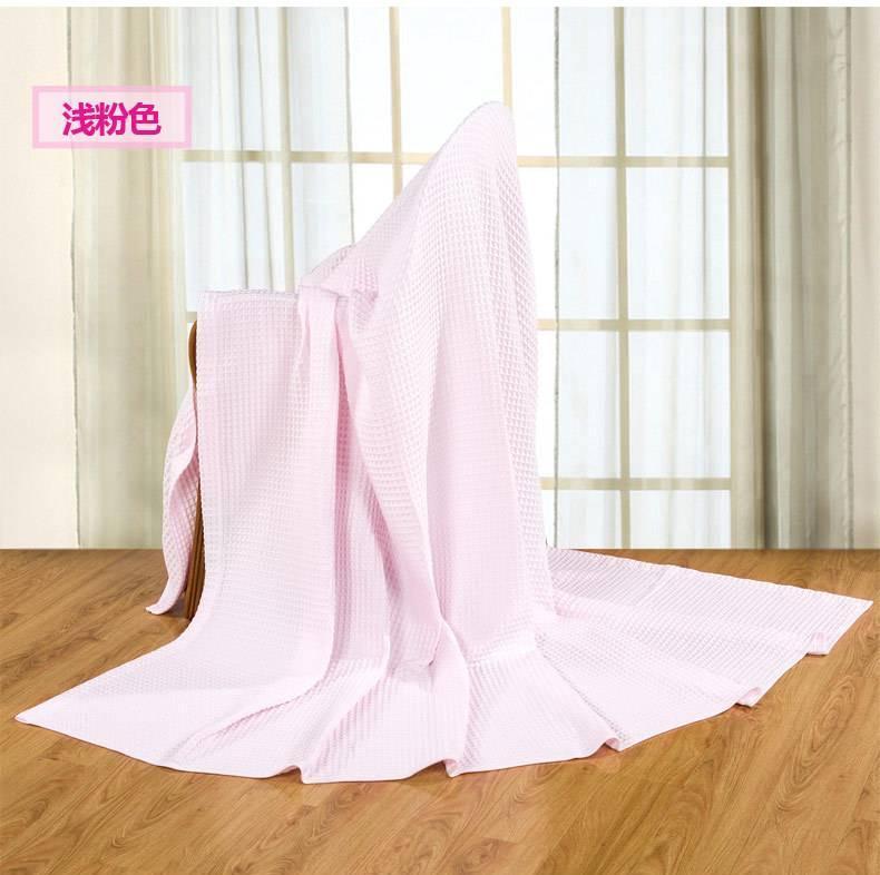 艺特佳家纺冰淇淋纹双人单人加厚全棉毛巾毯空调毯夏被毛毯特价示例图5