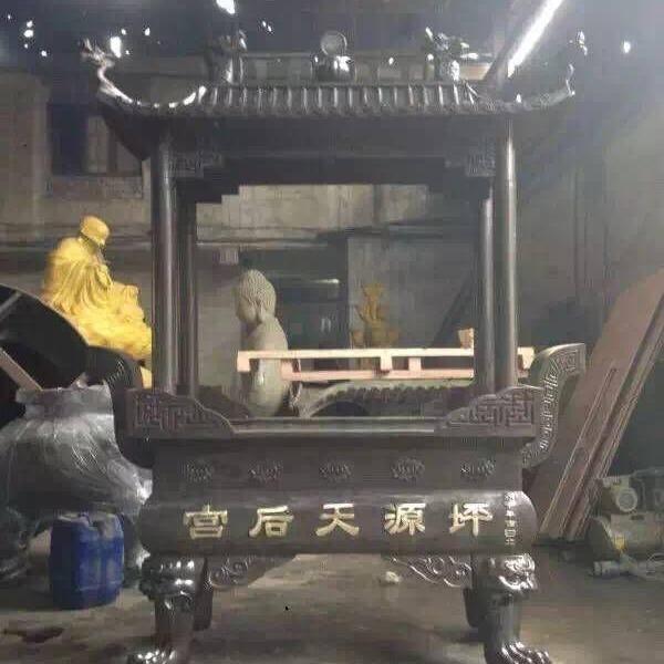 香炉 温州慈宏生产厂家,景区香炉,寺庙香炉,长方形八龙柱二层香炉