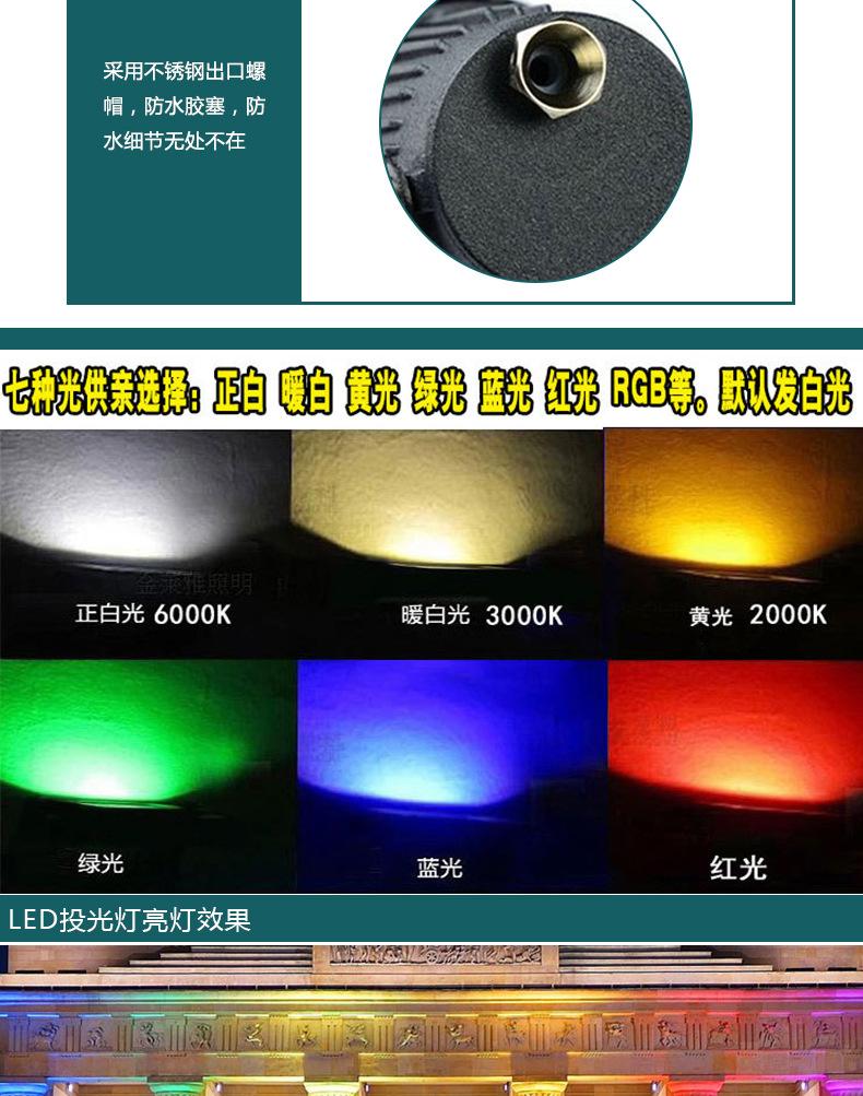 厂家直销室外防水 圆形18/36/54W大功率LED投光灯聚光LED舞台灯示例图5