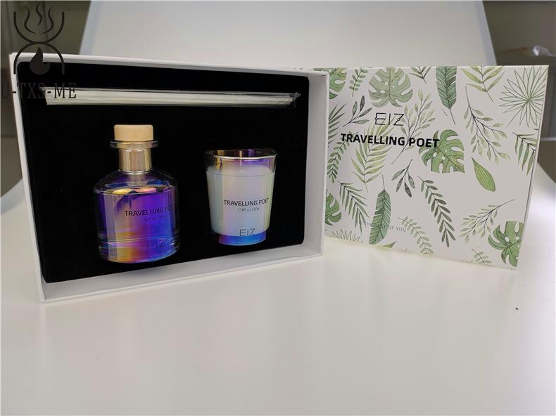 玻璃杯家居植物精油环保进口大豆蜡烛散香器爱博体育手机端下载套装伴手礼示例图3