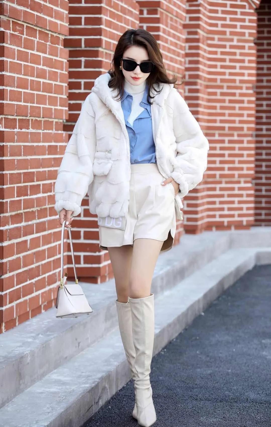 轻奢外套丹麦貂绒大衣女外套2021新款冬季中长款妈妈装一体时尚气质厚 商场货源供应示例图8