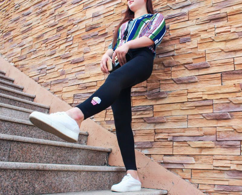 女裝韓版2016秋季女式打底褲爆米花笑臉電池刺繡顯瘦修身鉛筆褲示例圖12