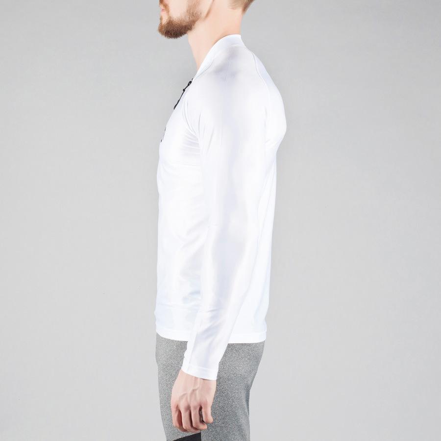 蒂贝鲨肌肉兄弟健身速干高弹长袖紧身上衣运动透气紧身长袖T恤示例图3