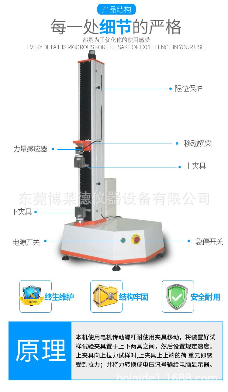 单柱织物强度试验机、单柱织物强力试验机、织物强力机示例图3