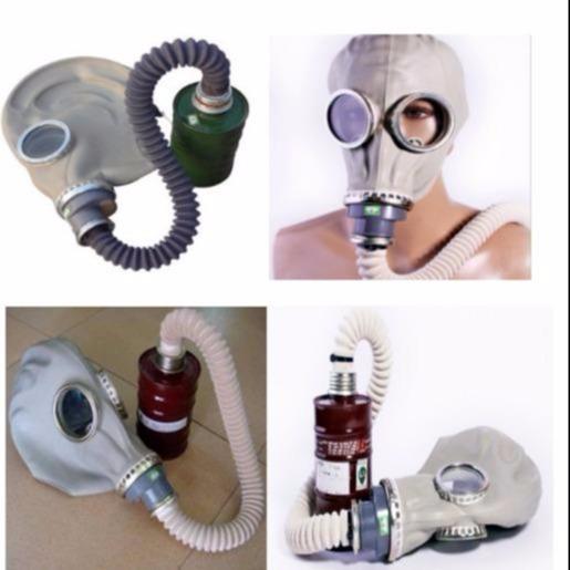 鬼臉防毒面具 導氣管濾毒盒JC-GL防有毒氣體  錦程安全防毒面罩圖片