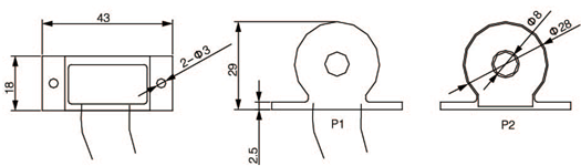 安科瑞,测量型电流互感器,AKH-0.66-30I,额定电流比100-600/示例图25