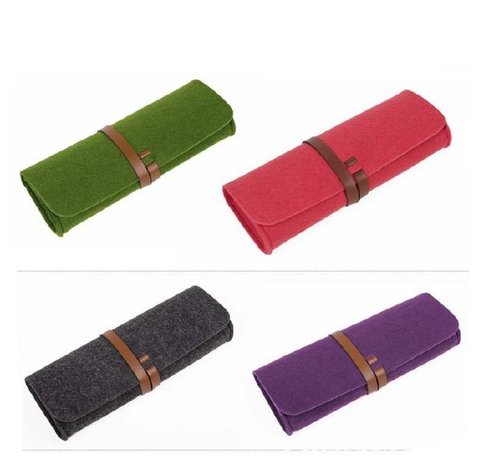 厂家直销毛毡笔袋时尚学生 大容量简约铅笔袋文具学生用品示例图12