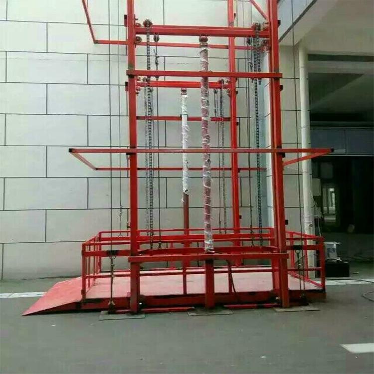壁掛導軌式升降機鏈條式貨物提升平臺倉庫上貨設備廠房液壓舉升機示例圖9