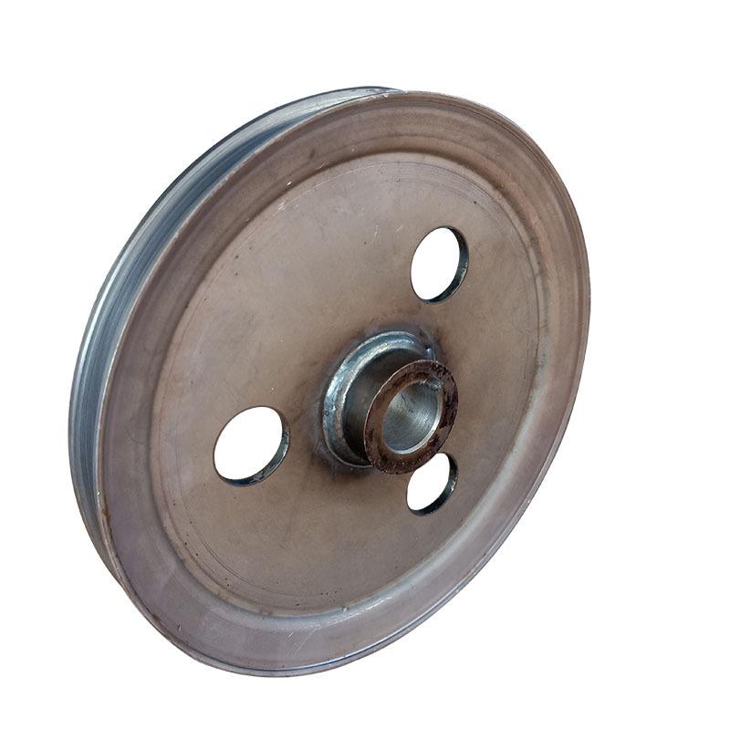 厂家直销优质单槽皮带轮 V型 劈开旋压皮带轮可加工定制示例图4