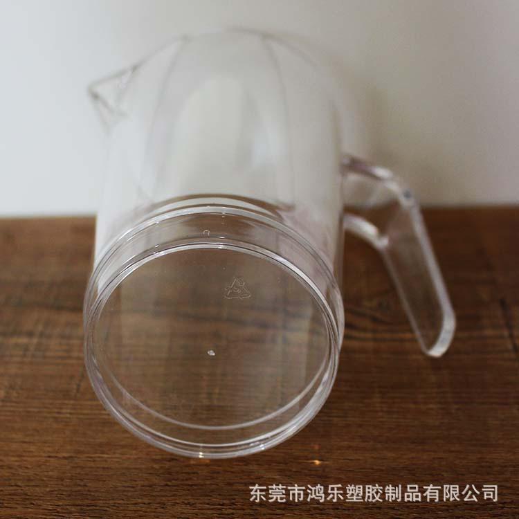 东莞工厂定制塑料分酒壶PS透明塑料冷水壶670ml果汁饮料壶尖嘴壶示例图11