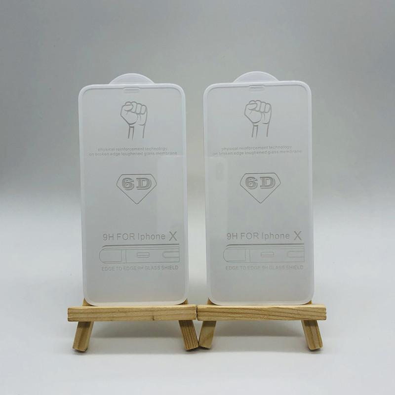 手機保護膜iphoneX全屏蘋果鋼化膜  窄邊6D滿版 劉海IPX 冷雕蝕刻