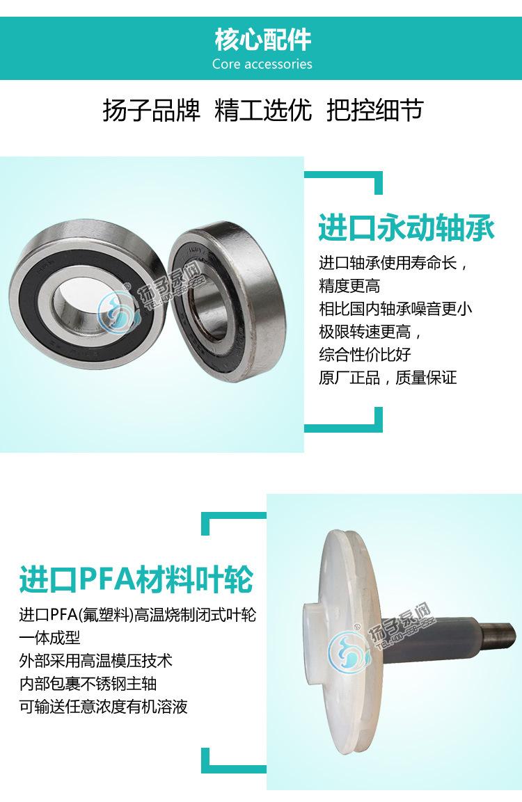 IHF氟塑料合金离心泵泵单级单吸式耐高温钢衬氟塑料化工泵示例图9