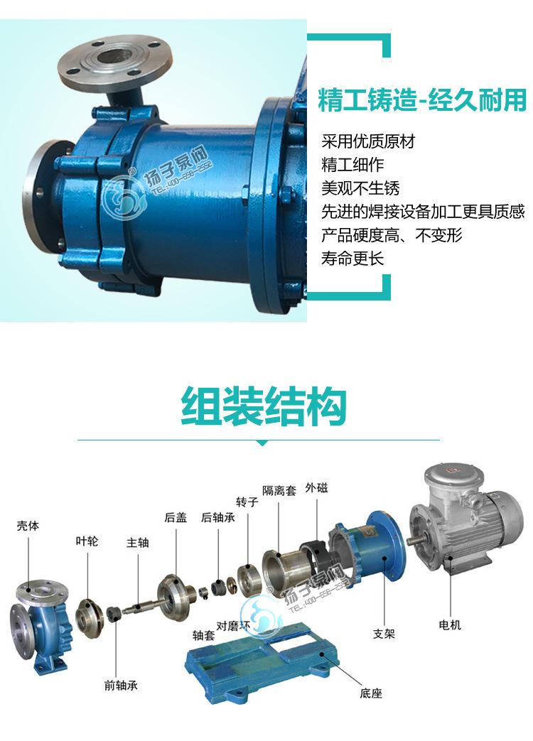厂家直销 国内磁力泵 防爆不锈钢 耐腐蚀磁力泵 CQB80-65-160P示例图8