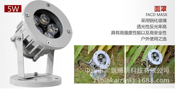 投光灯泛光灯 led投光灯9w /18W大功率led投射灯 圆形防水投光灯示例图5