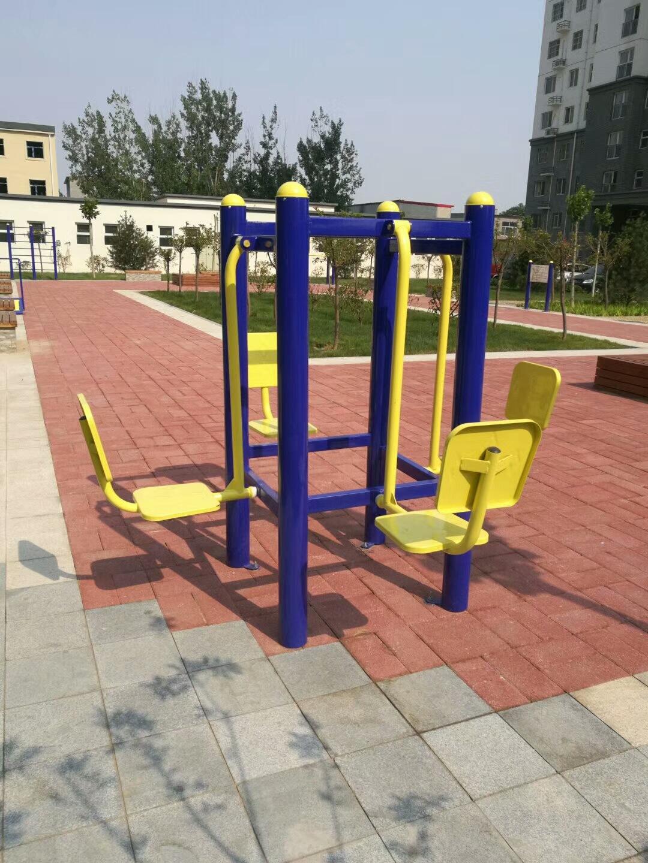 专业供应公园广场小区室外健身路径 高质量双人坐蹬 户外健身器材示例图9