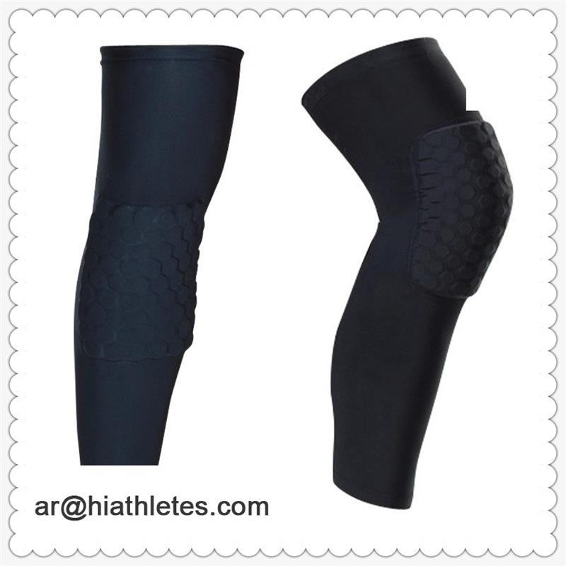 跨境户外运动护膝篮球护具用品 速干透气护腿厂家批发可定制