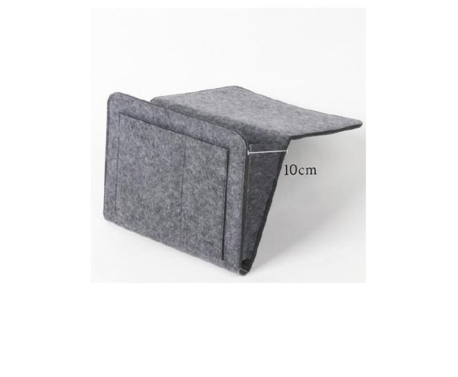 北欧简约床边挂袋毛毡平板寝室卧室沙发整理收纳袋 可定制logo示例图6