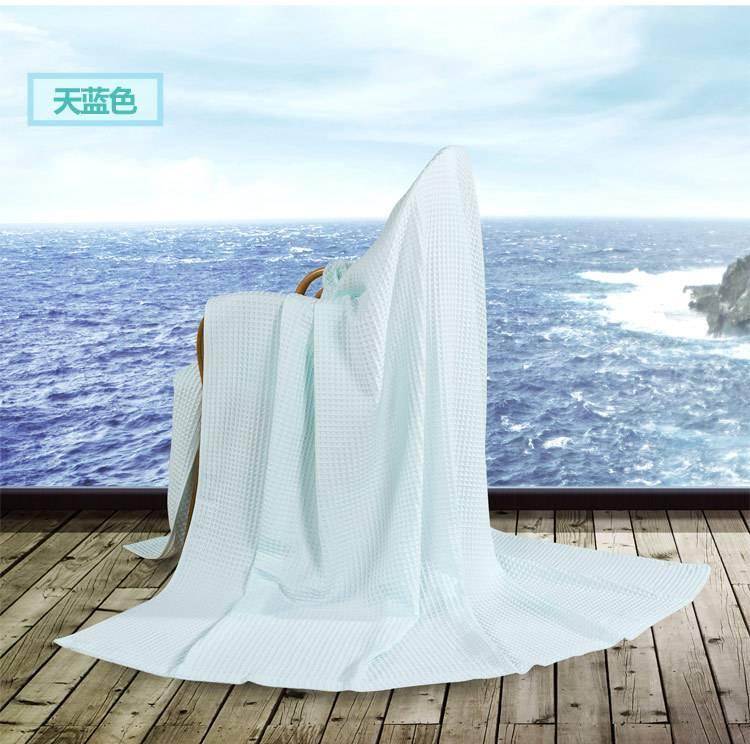 艺特佳家纺冰淇淋纹双人单人加厚全棉毛巾毯空调毯夏被毛毯特价示例图21