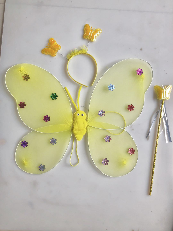 厂家直销蝴蝶翅膀单层三件套天使翅膀六一儿童演出蝴蝶翅膀示例图1