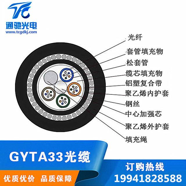 GYTA33海底光缆4芯6芯8芯12芯16芯24芯36芯48芯72芯96芯144芯288