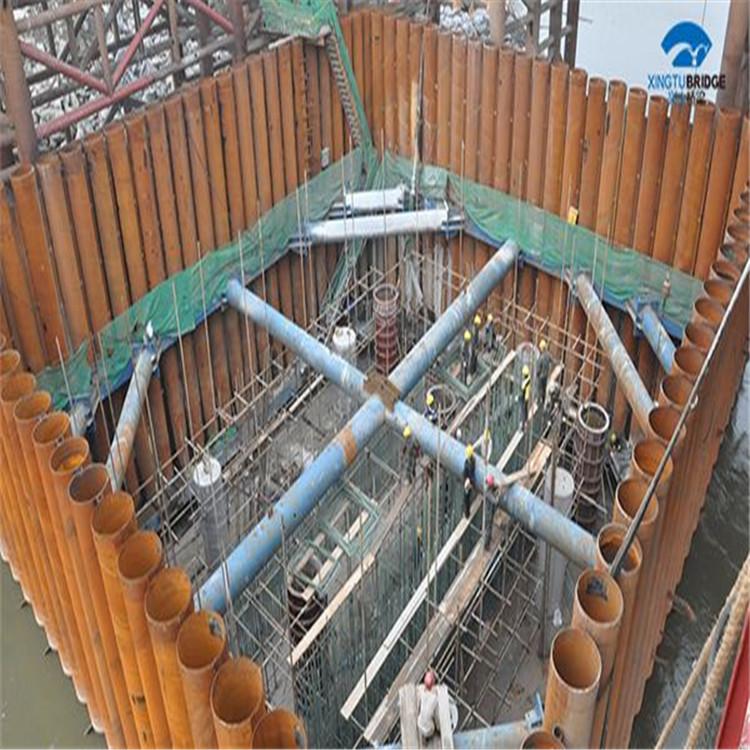 商泰定做基坑支护格构柱栓钉焊接钢管柱耐高温经久耐用