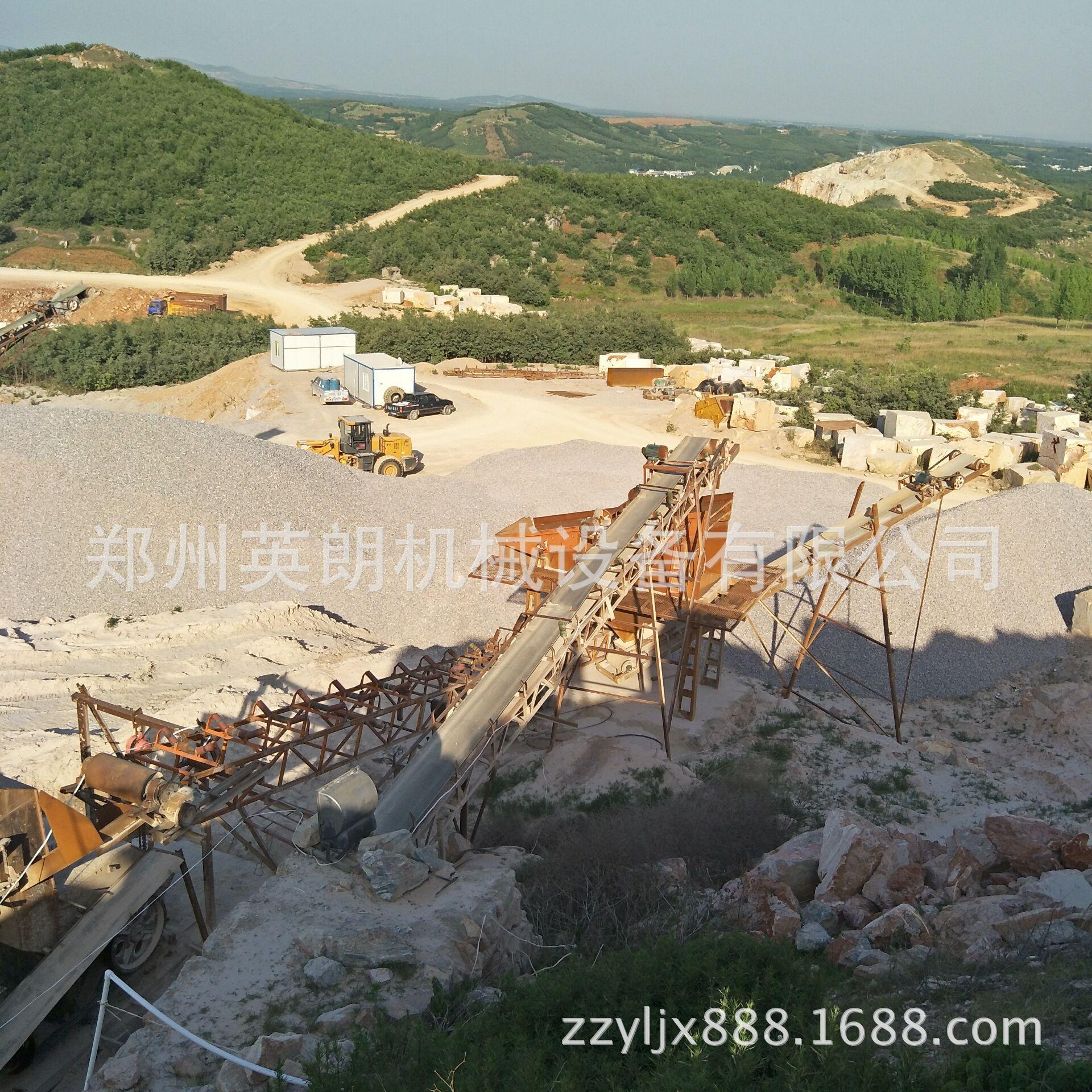供应矿山石料开采破碎生产线 建筑青石子破碎线 鹅卵石制沙生产线示例图5